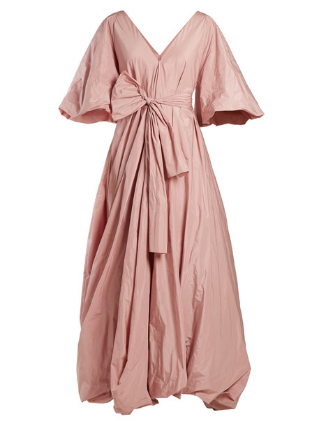 THE ROW Leegan tie-waist taffeta gown in pink