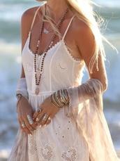 dress,white dress,vintage,boho,boho chic,indie,hipe,hippie,embroidered,white,beach,boho dress,summer,summer dress,short dress,summer outfits,beach dress,hippie dress,bohemian