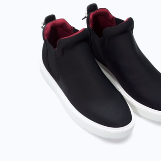 shoes black zara shoes sneakers slip on shoes red zara mens slip ons