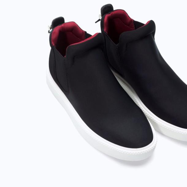 shoes black zara shoes sneakers slip on shoes red zara mens slip ons