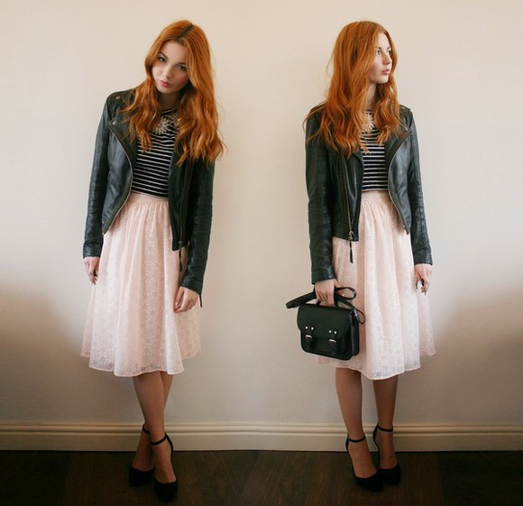 jacket bag jewels shoes t-shirt skirt hannah louise fashion
