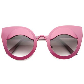 sunglasses pink pink sunglasses cat eye metal frames