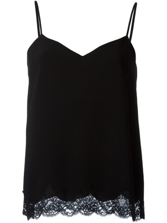 tank top top lace black