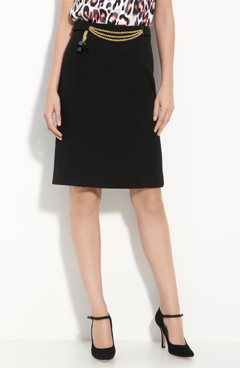 Milly Chain Front Pencil Skirt | Nordstrom