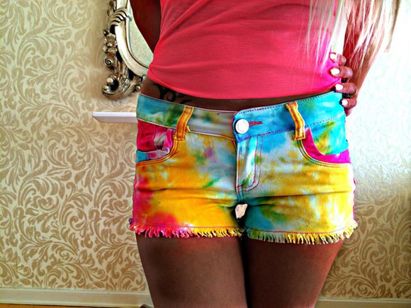 beige colour multi rainbow shorts yellow dye mirroe extensions nail polish sequins hot style styles tie dye dip dyed dip dye shorts dip dye shorts #dipdye #studs #cute #want multi colored multi-colored rainbow t-shirt hoodie hoodie coat sequin dress styles for less unicorn unique
