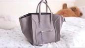 bag,gray bag,celine,girly,tote bag,fashion