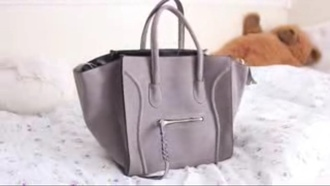 bag gray bag celine girly tote bag fashion