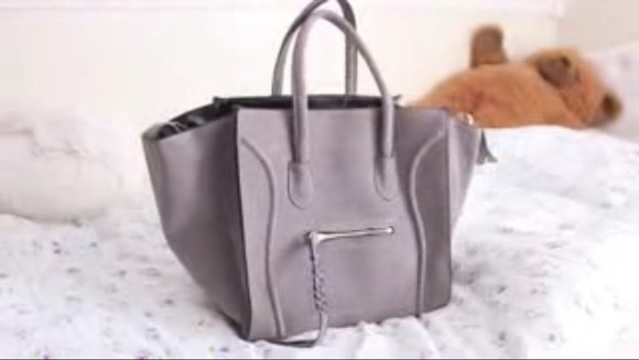 bag tote fashion celine gray bag girly