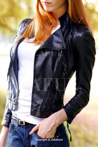 jacket leather jacket leather faux leather zip zipper jacket fall outfits fall trend black black jacket zaful casual