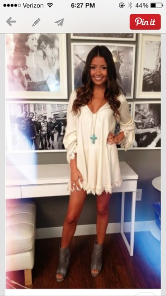dress dress white dress long sleeve dress tan dress