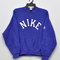 Vintage 1980s nike block swoosh sweatshirt sweater gray tag grey heather varsity sweatshirt sport trainer sweater hip hop