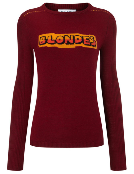 Bella Freud jumper wool burgundy red