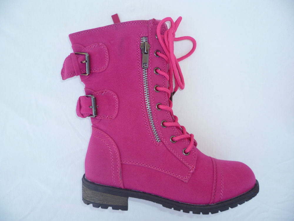 NEW FUCHSIA BOOTS YOUTH KIDS GIRLS SIZE 9-4