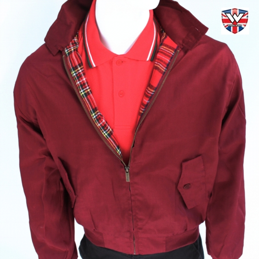 Original UK Harrington Jacket Maroon