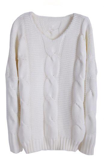 White batwing long sleeve v