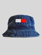 hat,tommy hilfiger,denim,bucket hat,vintage,old,very,rare,very rare