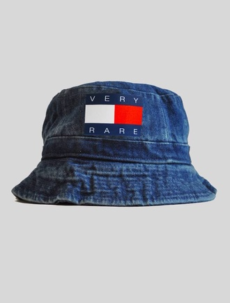 hat tommy hilfiger denim bucket hat vintage old very rare very rare denim bucket hat schoolboy q tommy hilnigga tommy sport denim hat