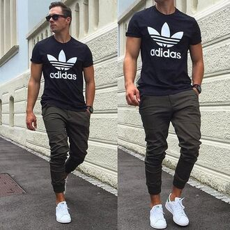 t-shirt clothes joggers adidas adidas shoes pants