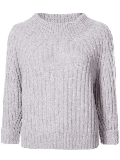 3.1 Phillip Lim - Ribbed pullover - women - Polyamide/Wool/Alpaca - S, Pink/Purple, Polyamide/Wool/Alpaca
