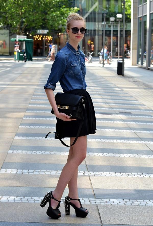 vogue haus blouse skirt shoes bag sunglasses jewels