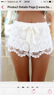 shorts,crochet shorts white