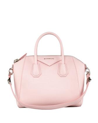 Givenchy Antigona Small Sugar Goatskin Satchel Bag, Light Pink