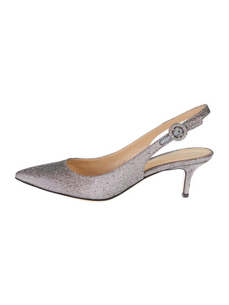 shoes silver leather metallic
