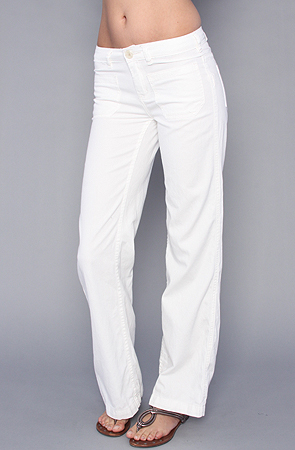 The vintage chambray wideleg patch pocket pant in white wash by free people
