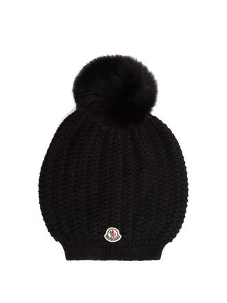 fur hat beanie wool black