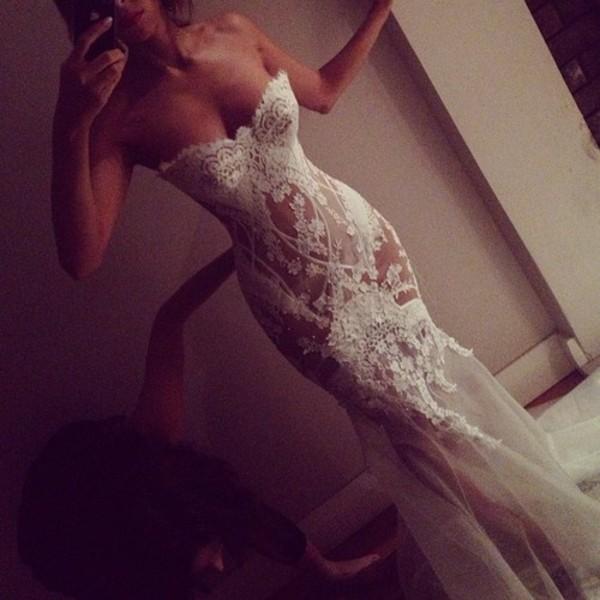 dress pro long dress long prom dress white fashion classy clothes cute lace tight form fitting pants blouse top wedding wedding dress