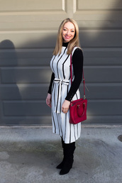 sweater,avecamber,shoes,blogger,bag,dress,boots