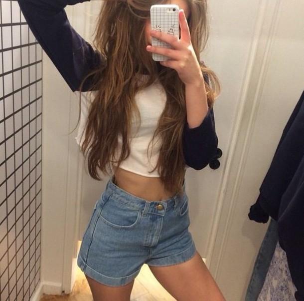 shirt t shirt. raglan t-shirt shorts denim jeans short vintage pants blue