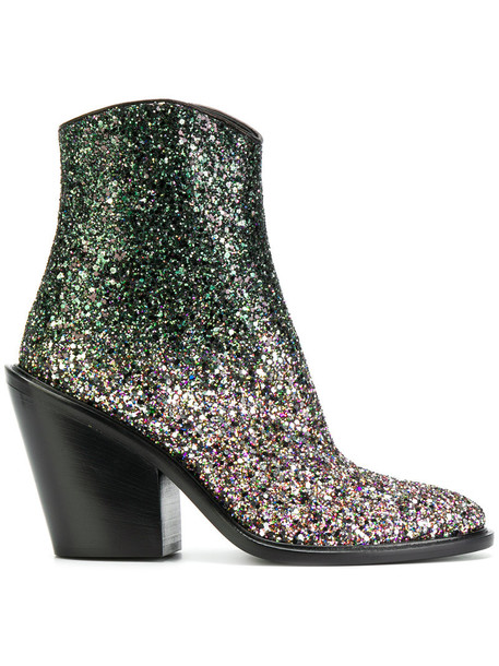glitter boots glitter women cowgirl boots leather grey metallic shoes