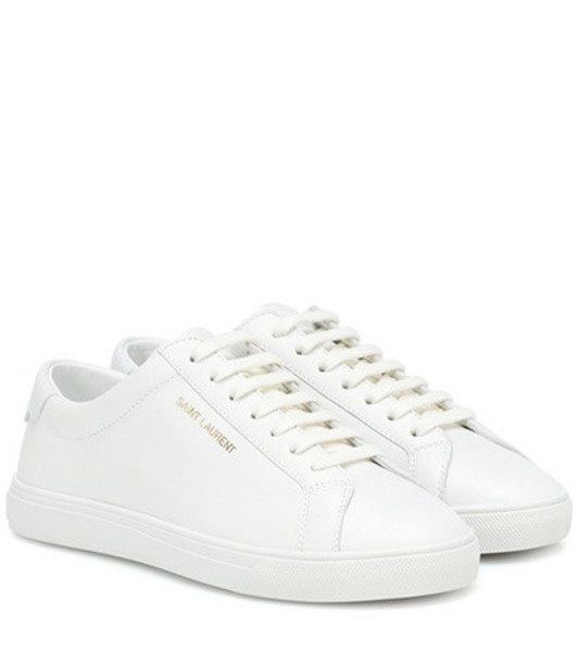 Saint Laurent Andy leather sneakers in white
