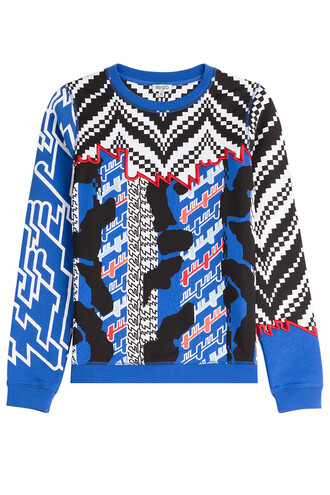 sweatshirt embroidered cotton multicolor sweater