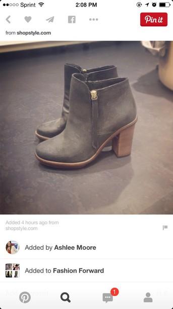 shoes booties gray booties