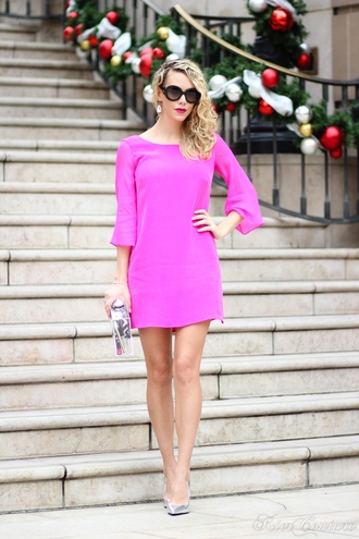 fashion addict blogger dress purple dress