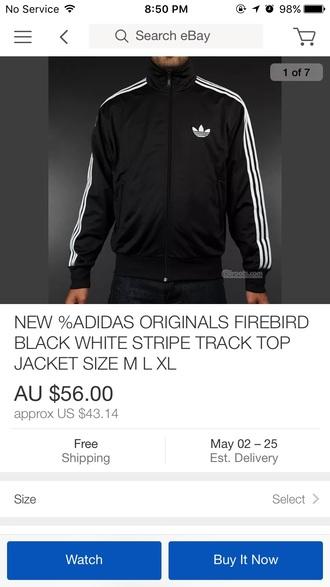 jacket adidas black and white