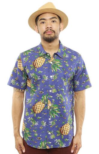 pineapple print mens shirt shirt