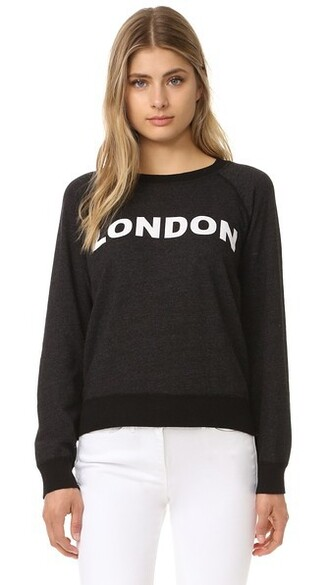 sweatshirt vintage london black sweater