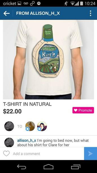 shirt ranch t-shirt tumblr outfit