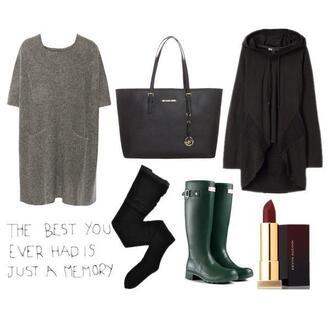 dress cardigan boots lipstick sweater dress winter dress winter outfits winter boots