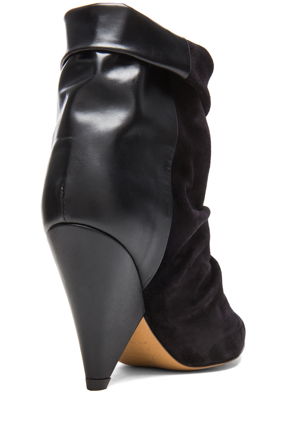 Isabel Marant | Andrew Calfskin Velvet Leather Boots in Black