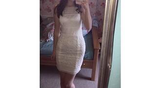 dress white dress white lace dress tight tight dresses pretty midi dress summer pattern