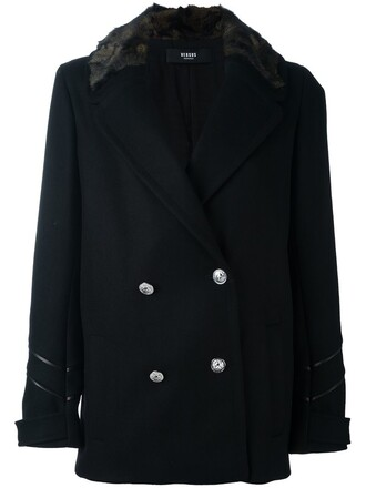 jacket double breasted black
