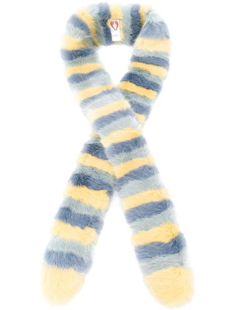 Shrimps fur faux fur women scarf fur scarf blue