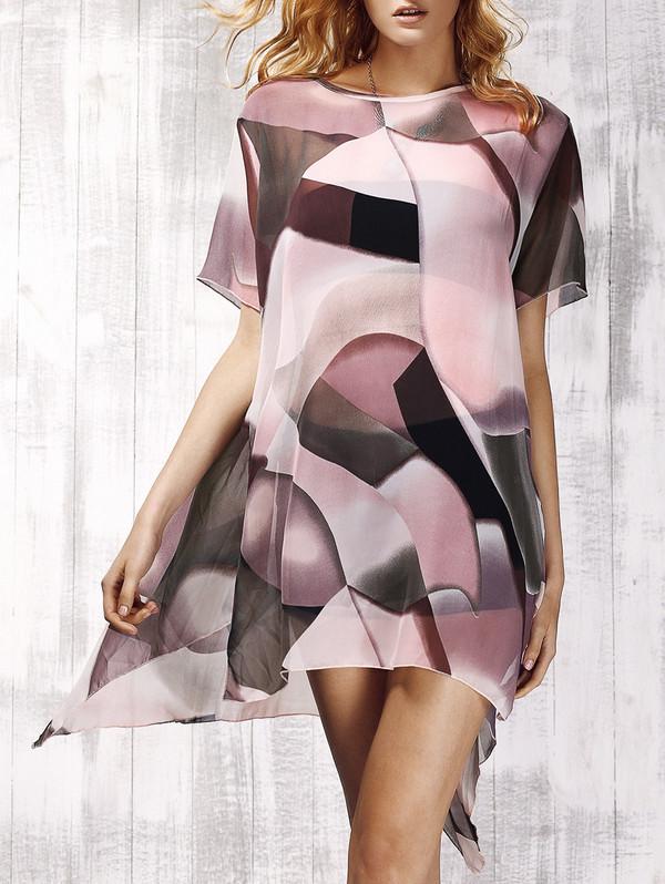 dress dressfo print fashion trendy style summer chiffon girl casual