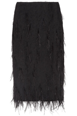 skirt embellished black