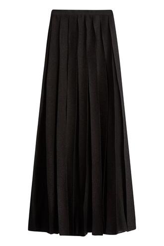 skirt maxi skirt maxi pleated black
