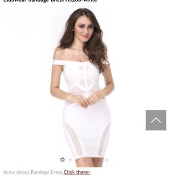 dress white bandage dress